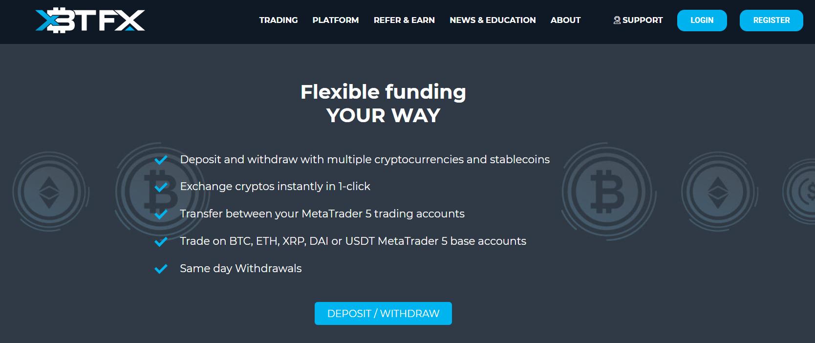 Официальный сайт XBTFX