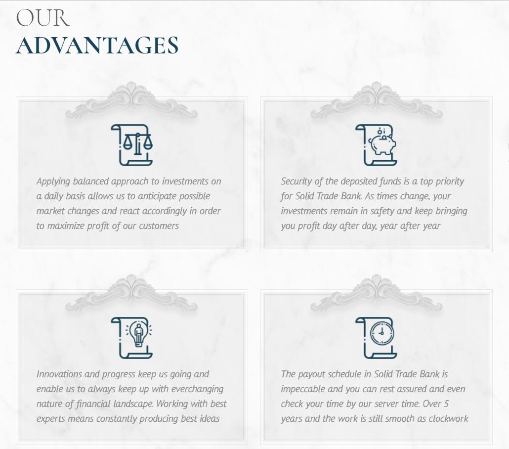 Предложения для партнёров компании Solidtrade Bank